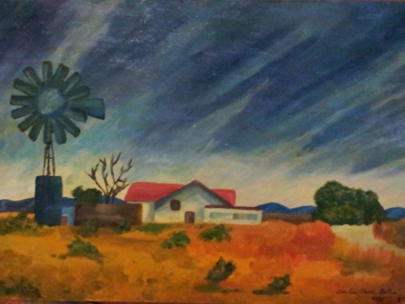 Molodi Farmhouse - a painting
