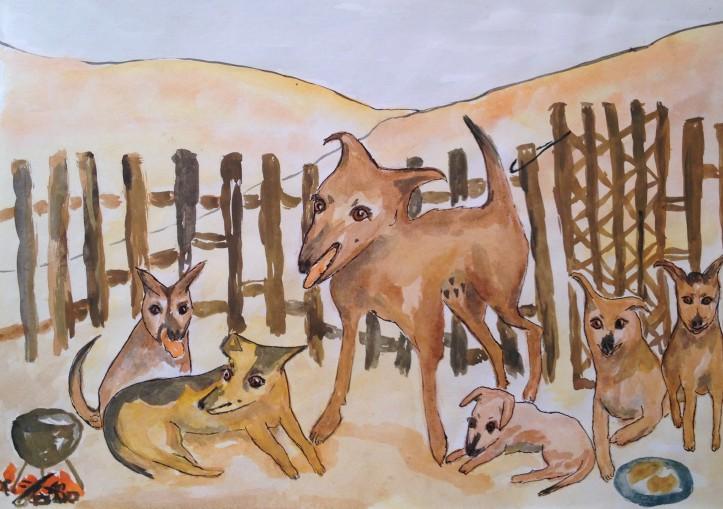 Bibi and Puppies