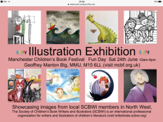 Fauna Park's illustrations are on display at the SCBWI Stand at the Manchester Exhibition.