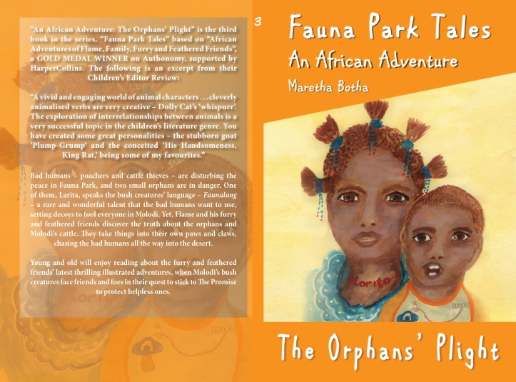 A short video of me reading from The Orphans' Plight: An African Adventure.